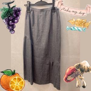 イタリア製リネンのスカート