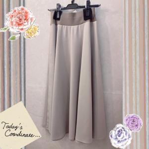 サラサラ肌触りのAラインスカート