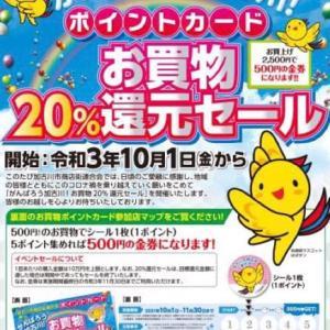 がんばろう!加古川 20%還元セールが始まります!