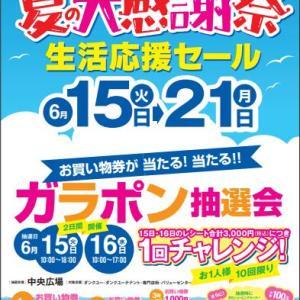 恒例‼夏の大感謝祭生活応援セール Web限定先行セール13日からスタート!