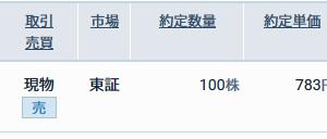 三菱ケミカルホールディングス(4188)を売却しました。