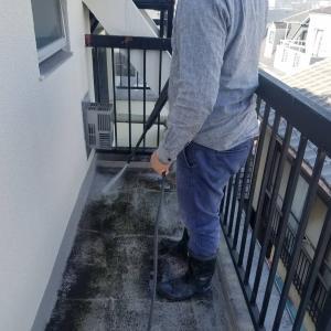 渋谷区栄和HSマンション防水工事開始。