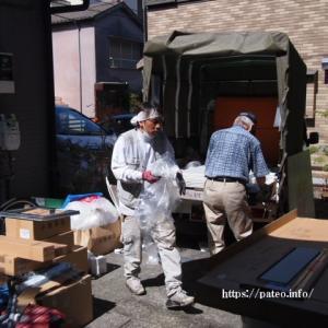 足立区H・U様浴室ユニットバスリフォーム工事ユニット材搬入。