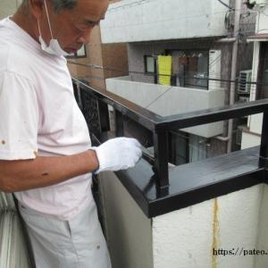 目黒区S様邸ベランダ手摺塗装・床防水仕上げ完了。