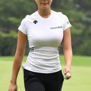女子プロゴルファーの〇っぱいwww