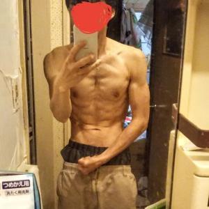ワイ筋トレ💪歴半年の身体つきww