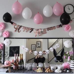 今年のテーマはピンク♡100均グッズだけでハロウィンパーティー2019
