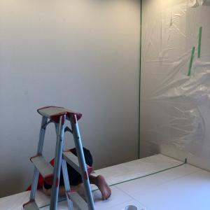 子どもと楽しく♡壁のペンキ塗りに挑戦してみました*