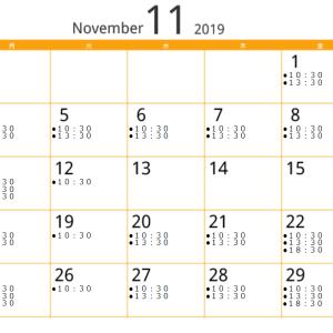 11月のレッスンスケジュールと今月のトイプードルブラン