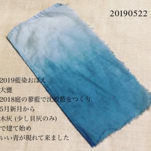 2019#藍染 おぼえ