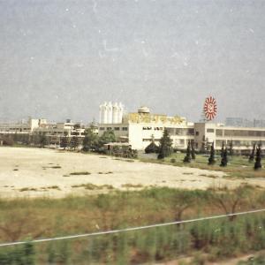 明治大阪工場に保存されている京都市電(1972年撮影)