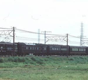 1回きりのお召し列車プッシュプル回送列車