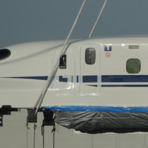 N700系新幹線G24編成1号車陸上げ&陸送(2015年撮影)