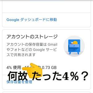 googl.com 60GB以上の写真があるはずなのに。