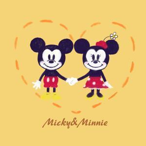 仲睦まじいミッキーとミニー