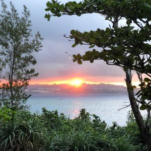 伊江島でキャンプ、2日目。
