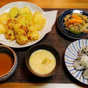 冷蔵庫にある食材で晩御飯☆天ぷら♪☆♪☆♪