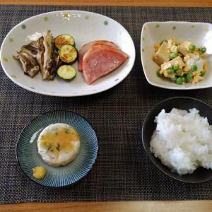 単品写真の撮り忘れ・・・高野豆腐とうすいえんどう豆の玉子とじ♪・・♪