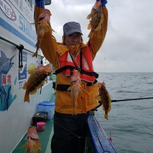今日は渋い釣りでした。