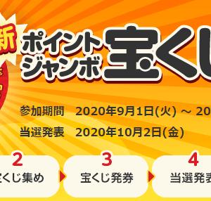 ECナビ ポイントジャンボ宝くじ 9月号 発券