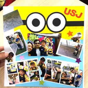 ミニオンズの写真やミニオンズと撮った写真をアルバムに貼るときはコレ、コレ!!