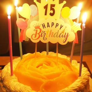 10歳&15歳の誕生日ケーキ♡