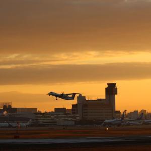 伊丹空港の一番機
