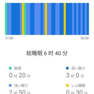 レム睡眠ノンレム睡眠計測☆16時間ダイエット87日目(9/23)