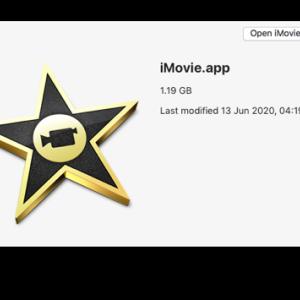 iMovie旧バージョン(iMovie 9.0.9)のダウンロード&インストール方法