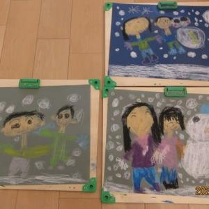年長さん絵画教室「雪遊び」 210120
