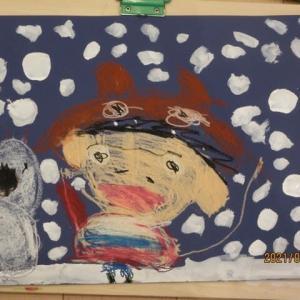 年中さん絵画教室 雪遊び 210127