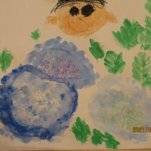 年長組絵画教室「あじさい」210602