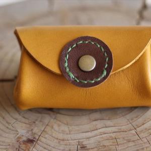 プチアコーディオン財布・マスタード UPしました。