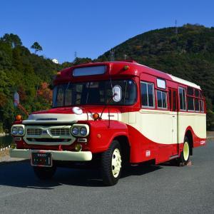大洲城下町にボンネットバス現る!