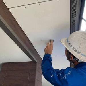 熊本 新築軒天井塗装工事段取りよくスピーディに完了いたします。