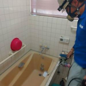 熊本お住まいの風呂場 除カビクリーン工法 (除カビ・殺菌・防カビ)