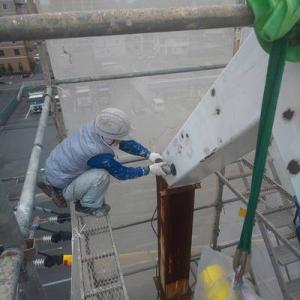 熊本看板ポール塗装(下地処理)からのウリシクタンのキンパとチキン♪(ラテ付き)