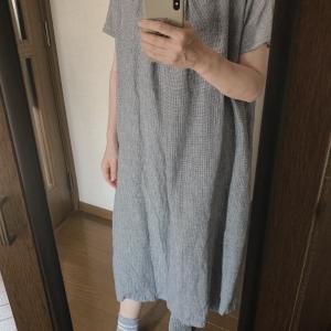 今日の服 リネンワンピース  無印良品