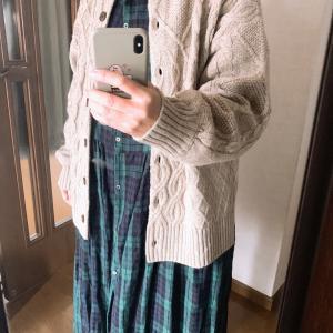 今日の服 作家さんリネンワンピース