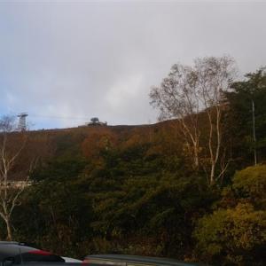 那須茶臼岳 気温0.2度は寒かった、強風に飛ばされそうだった。2020年10月