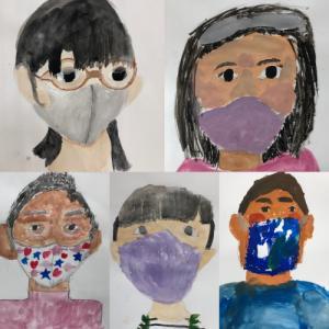 2021.2.28 子ども絵画教室から〜マスクした自画像〜と没頭力