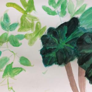 5/26 子供アート教室  緑に囲まれて