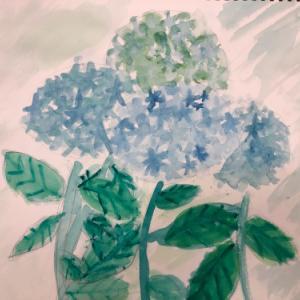 6/9 子供アート教室 〜紫陽花を描こう〜