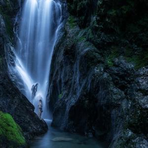 峡谷の滝、砥山不動滝