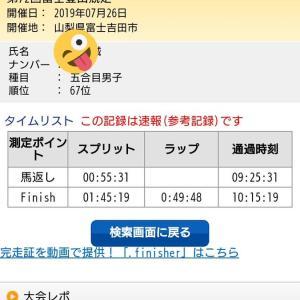 【結果】第72回富士登山競走