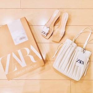 ZARAで購入した可愛すぎるバッグ&サンダル