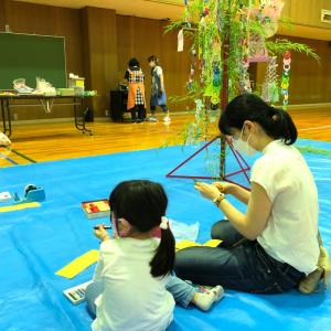 【開催】親子の学び教室で七夕飾り♪