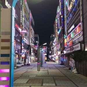 成田から仁川空港へ 雲西駅に泊まる