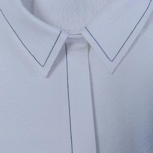 白いシャツワンピを縫う