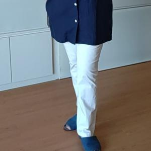 自分服:LLサイズ白パンツを縫う